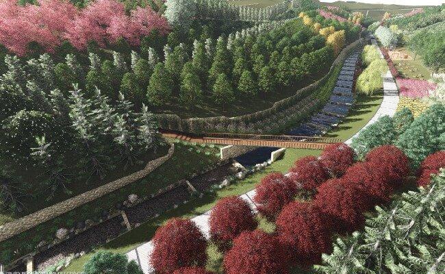 İzmir Buca Tınaztepe Mahallesi Portakal Vadisi Parkı maket canlandırma