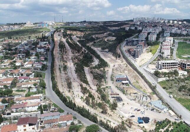 Buca Tınaztepe Mahallesi Portakal Vadisi isimli rekreasyon yatırımı şantiyesi