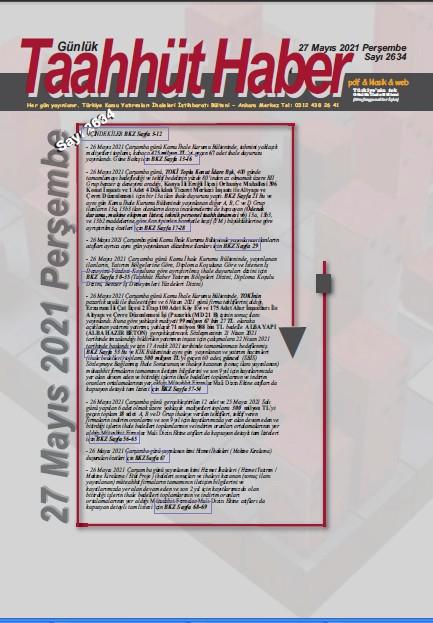 Alternatif Metin Taahhut Haber Kapak / Sayı 2634
